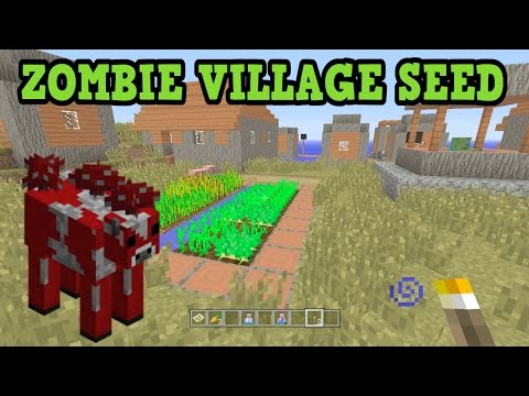 Minecraft Xbox 360 / PS3 - ZOMBIE VILLAGE SEED! W/ Mooshrooms