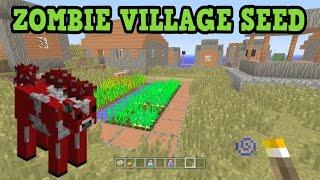 Minecraft Xbox 360 / Ps3 - Zombie Village Seed! W/ Mooshrooms