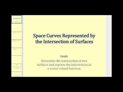 Determine a Vector Valued Function from the Intersection of Two Surfaces