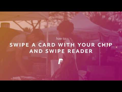PayPal Chip and Swipe card reader: How to swipe a card