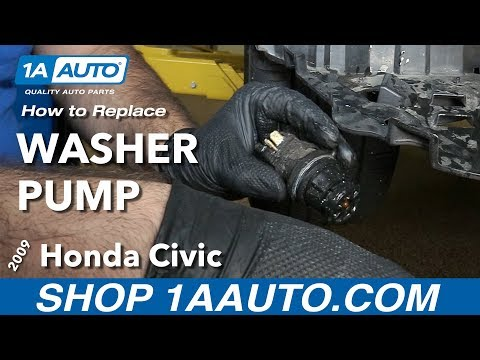 How to Replace Install Washer Fluid Pump 09 Honda Civic