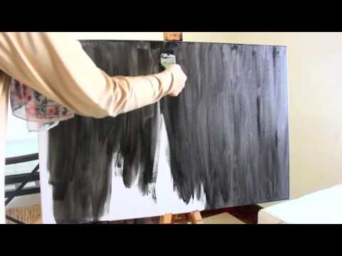 How to make your own canvas chalkboard!