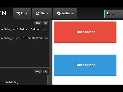 Button im Flat Design | HTML, CSS für Anfänger
