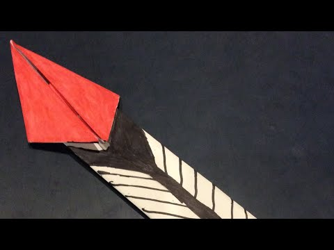 How to make a paper spear that glides