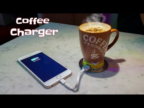 You can Charge your phone using hot coffee