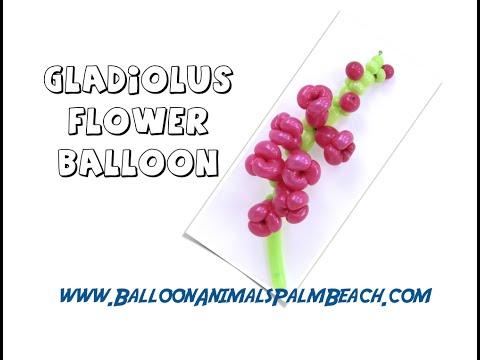 How To Make A Gladiolus Flower Balloon - Balloon Animals Palm Beach