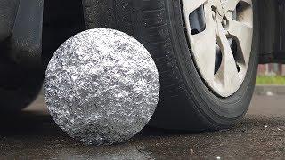 Experiment: Car Vs Foil Ball