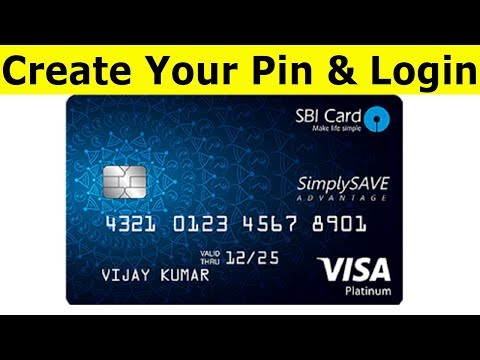 How To Activate SBI Credit Card Pin & Create Login User Id And Password
