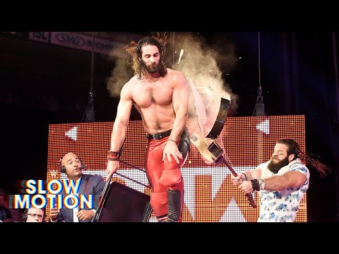 Unseen video of Elias' guitar-splintering assault on Seth Rollins: WWE Exclusive, June 1, 2018