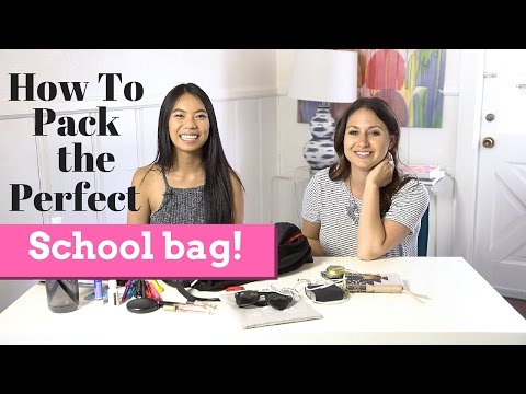 How To Pack the Perfect School Bag ft. Infinitely Cindy!   The Intern Queen