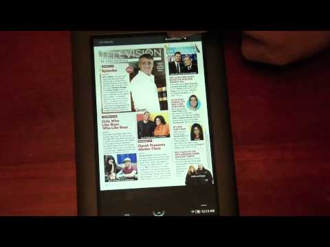 Nook Color First Look - Book and Magazine Reading Experience