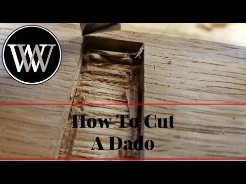How To Cut a Dado With Hand Tools - Woodworking Joint