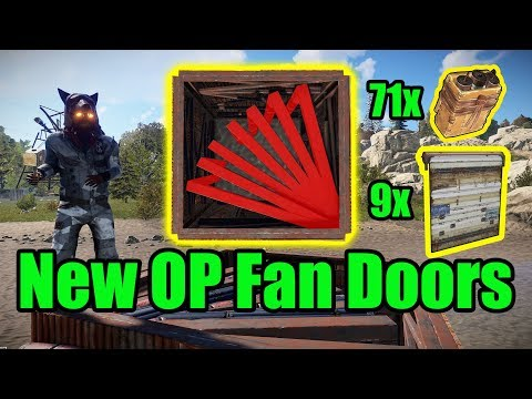 NEW OP Fan Doors - 9 Door Airlock - Rust base building 3.0