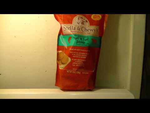 Raw food for dogs - supplement with Stella & Chewey's frozen raw food.