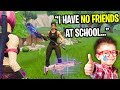 Nicest Kid On Fortnite Can T Make Any Friends At School  He Gave Me A Scar