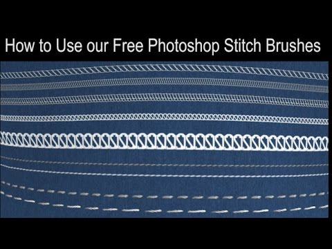Howto Use our Free Photoshop Stitches Brushes Set Tutorial