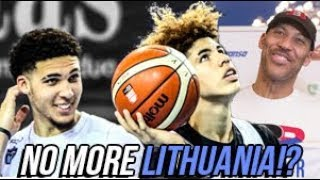 LaMelo & LiAngelo Ball PULLED From LITHUANIA By Lavar! I Think I Know Why...