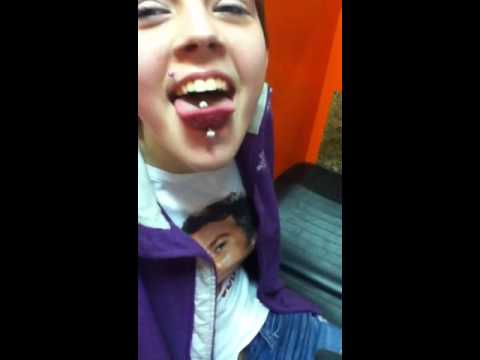 Me getting my tongue pierced