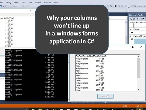 How to Line Up Columns in C# using String Format
