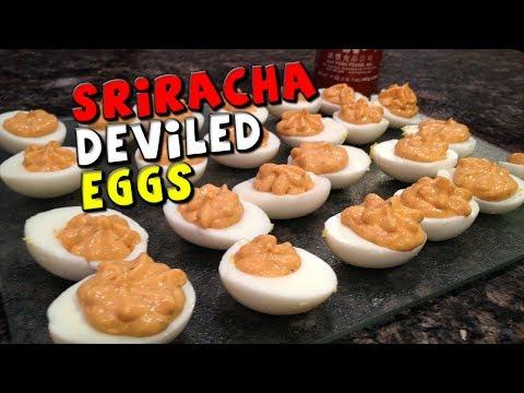 Sriracha DEVILED Eggs Recipe (HEALTHY!)