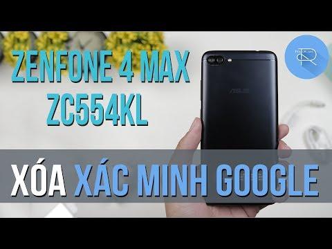 Hướng dẫn xóa xác minh tài khoản Google cho Zenfone 4 Max (ZC554KL