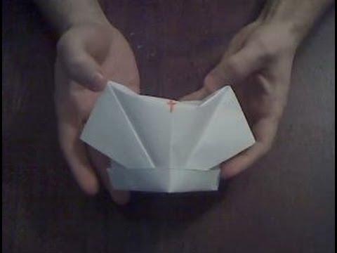 Оригами шапка медсестры из бумаги Origami nurse cap