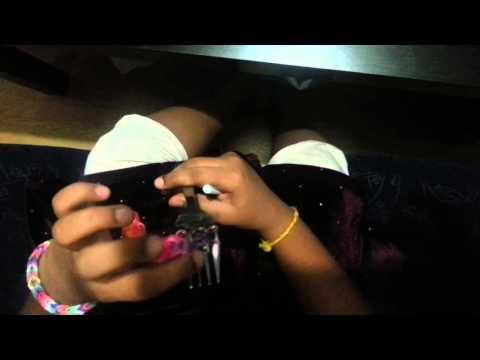 how to make loom band starburst bracelet using fork
