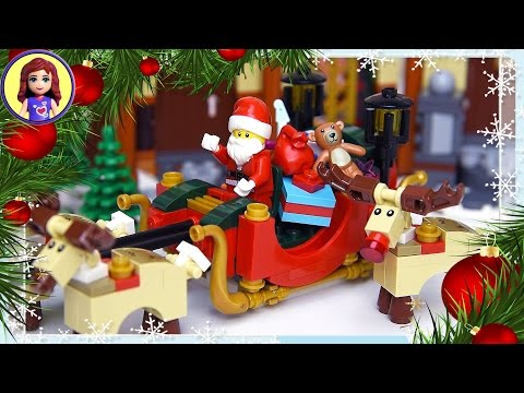 Christmas Santa Sleigh Rudolph Reindeer Lego Build Silly Play - Kids Toys