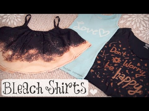 DIY BLEACH SHIRT - Upcycle T-Shirts - How To | SoCraftastic