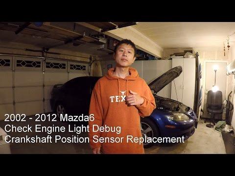 Mazda6 Check Engine Light P0335 P0340 Crankshaft Position Sensor Replacement