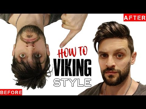 VIKING HAIR & BEARD CUT & STYLING TIPS | Fuller/Thicker Looking Hair & Beard INSTANTLY!