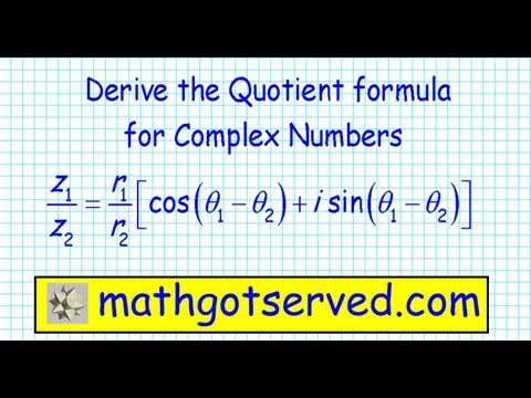 Derivation of the quotient formula for complex numbers