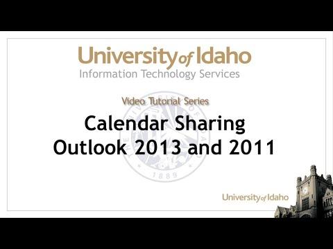 Outlook calendar Sharing