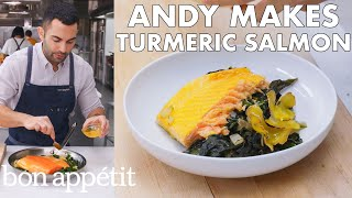 Andy Makes Turmeric Salmon With Coconut | From the Test Kitchen | Bon Appétit