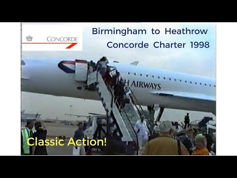 Concorde Special Charter 1998 - Birmingham to Heathrow Airport