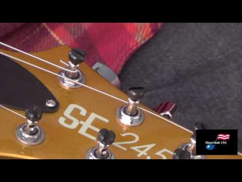 How to properly string a guitar with PRS Locking Tuners