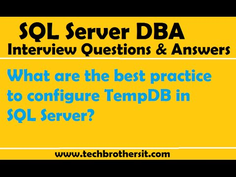 SQL Server | What are the best practice to configure TempDB in SQL Server
