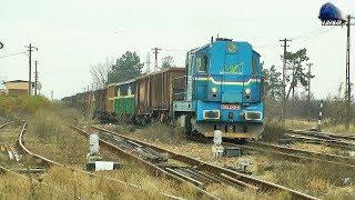 """kocour"" 742 249-6 Loko & Marfar Mva Freight Train In Episcopia Bihor - 01 December 2018"