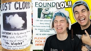 Funniest Lost And Found Signs!