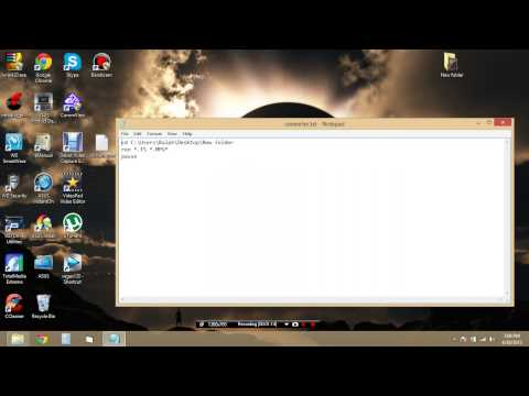 How to convert multiple file extensions at once easily