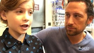Jacob Tremblay Brings His Dad to Work for