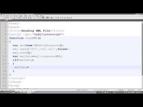 To Read XML file through Javascript