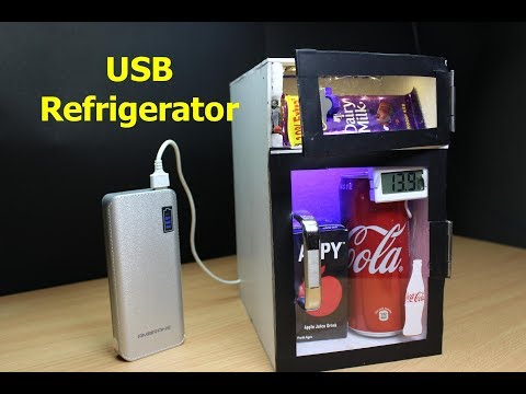 How to Make Mini USB Refrigerator at home