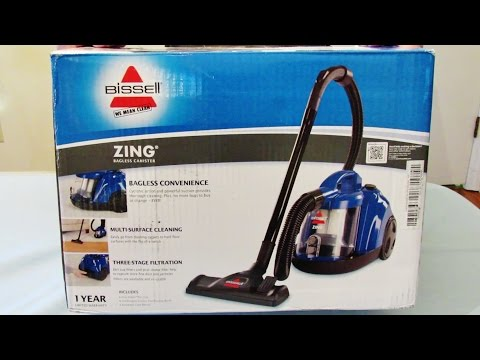 Unboxing, In Depth Review & Demo of the Bissell Zing Bagless Vacuum Cleaner