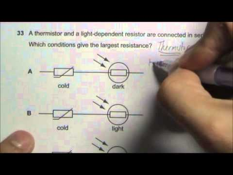 2008 O' Level Physics 5058 Paper 1 Solution Qn 31 to 35