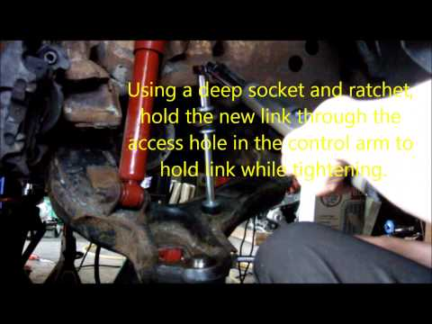 Stabilizer/sway bar bushing and link tightening process