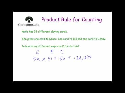Product Rule for Counting - Corbettmaths