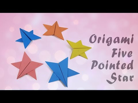 Origami Five Pointed Easy ⭐️Star⭐️ - Origami Paper Easy ⭐️Star⭐️Tutorial  DIY Christmas Star Craft