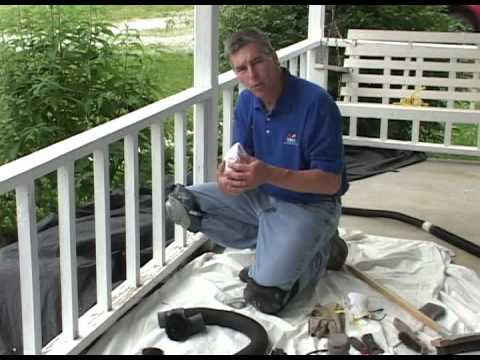 Preparation for Painting Porch Railing- Failed Paint on Treated Lumber