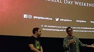 We Introduced David Yarovesky & James Gunn at a Brightburn Screening!